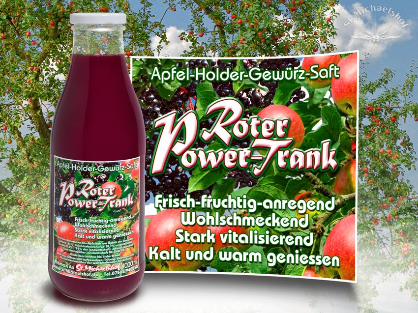 Roter Power Trank 1000ml