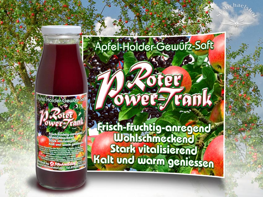 Roter Power Trank 500ml